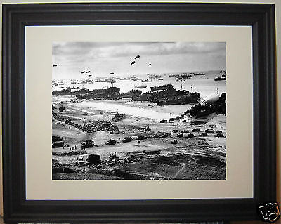 Operation Overlord 1944 D-Day Dday Invasion World War 2 WWII Framed Photo