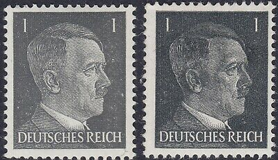 Stamp Germany Mi 781a 781b Sc 506 1941 WWII 3rd Reich War Hitler BOTH TYPES MNG