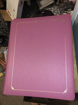 Creative Memories 12x15 album new sealed old style red Pink Mauve  gold trim