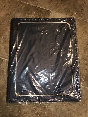 Creative Memories 12x15 Black Old Style Album Gold Scroll