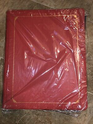Creative Memories 12x15 Red Old Style Album Gold Scroll