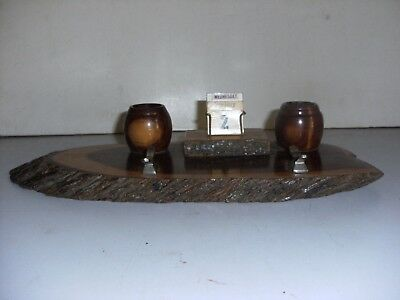 Australian Mulga Vintage Ink Well Desk Set