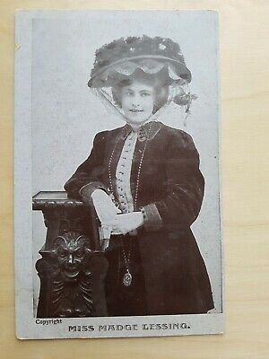 Vintage Collectible Postcard early 1900s Real Photo Miss Madge Lessing copyright