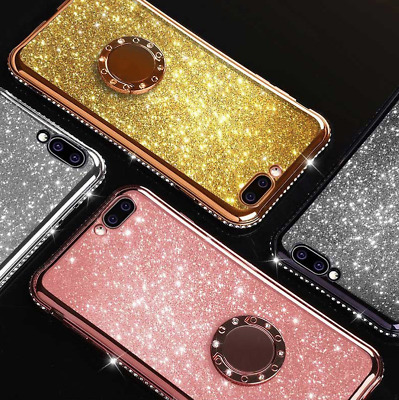 Ring Holder Plating Bling Case Cover For Samsung A10 A30 A40 A50 A70 M10 M20 M30
