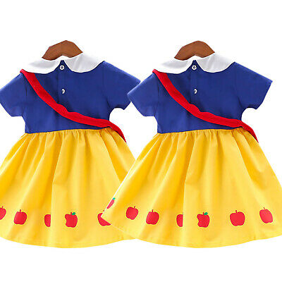 Snow White Character Toddler Girls Kid Princess Dress A Line Dress Fancy Costume