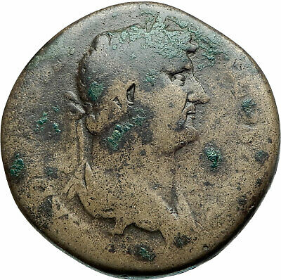 HADRIAN Authentic Ancient 117AD Rome SESTERTIUS Genuine Roman  Coin i79168
