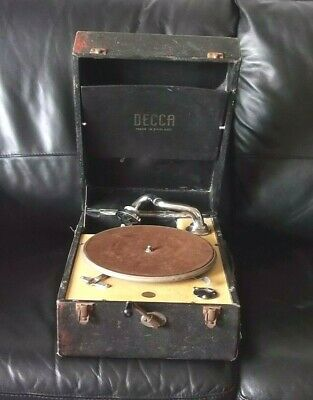 Decca 50 Gramophone Vintage 1940s Portable Record Player Talking Machine