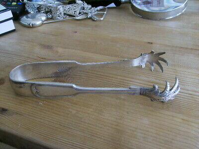 Mappin and Webb Claw Talons Ice Tongs Princes' Plate Silver Plated