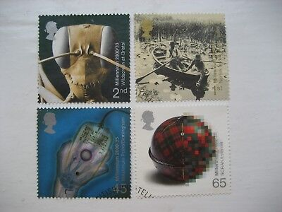 Gb 2000 Millennium Mind And Matter Full Set Sg 2162/5 Very Fine Used Stamps