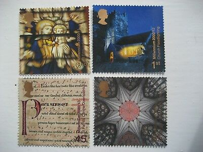 Gb 2000 Millennium Spirit & Faith Full Set Sg2170/3 Very Fine Used Stamps