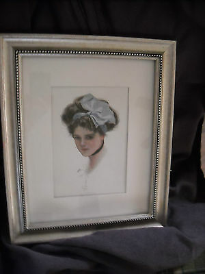 Antique victorian print picture  chic gibson girl vintage harrison fisher