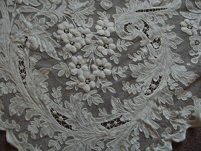 antique Tambour lace curtain Edwardian Art Nouveau