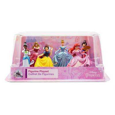 DISNEY Princess 6 x Figure Playset Cake Toppers - Snow White, Belle **NEW**
