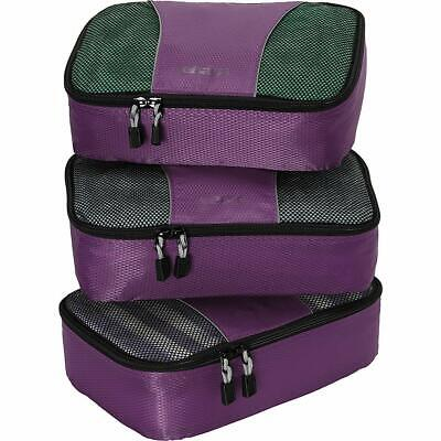 eBags Small Classic Packing Cubes for Travel - Organizers - 3pc Set - Eggplant