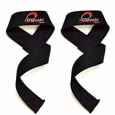 Heavy Duty Weight Lifting Power lifting Strong Wrist Straps Wraps Fist Grip Supp