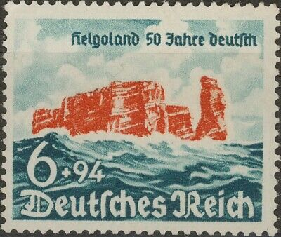 Stamp Germany Mi 750 Sc B176 1940 WWII Fascism Heligoland Battle Island MNG
