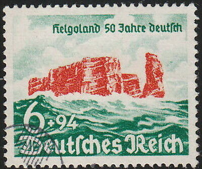 Stamp Germany Mi 750 Sc B176 1940 WWII Fascism Heligoland Battle Island Used