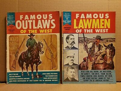 2 Special Collector's Issues 1964-1965 Famous Outlaws / Lawmen Of The West #2 #5