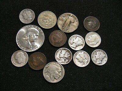 Junk Drawer Lot Of Silver Coins & Others 1897-1957