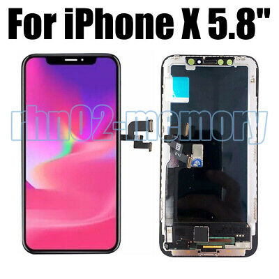 Lcd Display Per Apple Iphone X Ten 10 Schermo Vetro Frame Oled Touch Screen Rhn