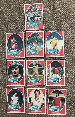 Topps 1979 Football Cards -  Blue Backs - TOPPS SALUTES SUB SET CARDS X10
