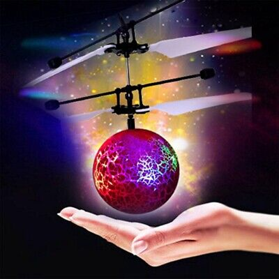 Drone d'induction infrarouge volant Flash LED boule d'eclairage Helicoptere S8Y5