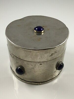 Vintage Silver Plated Ecclesiastical Pyx Jewelled Box