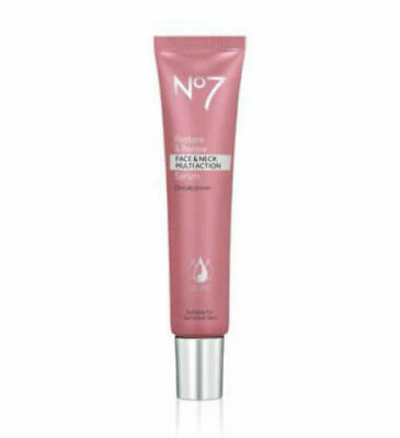 No7 Restore & and Renew Face and Neck Multi Action Serum 30ml 50ml or 75ml BOXED