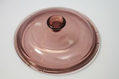 Corning Ware Pyrex Visions Cranberry Casserole Replacement Lid V1C 1L
