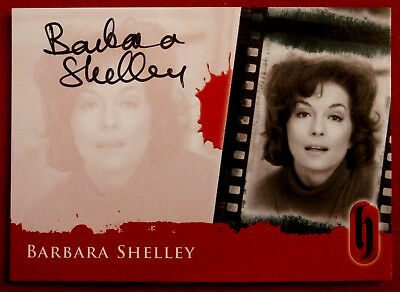 Hammer Horror - BARBARA SHELLEY - Autograph Card - BLACK INK VARIANT - A1-S2