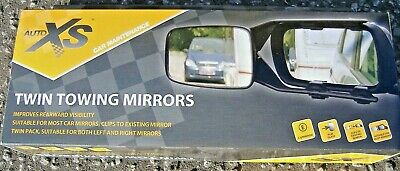 Auto Xs Twin Extended Towing Mirrors Brand New Boxed Caravan Trailer