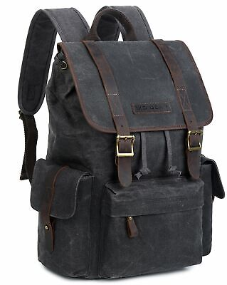 b873063e28ca RUGGED LEATHER WAXED Canvas Duffle Bag - Small Gym Bag for Men ...