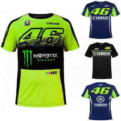Mens Tee T Shirt QuickDry Moto GP Team Motorcycle Racing Short Sleeve Sports New