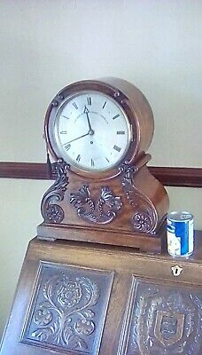 Board room bracket clock  by John Moore and son c1840 fusee movment