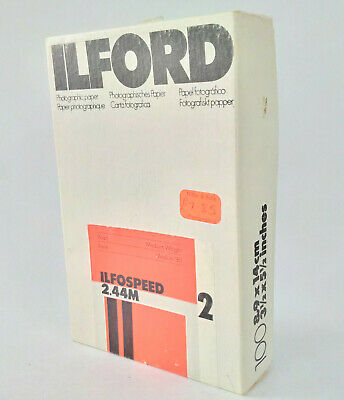 "3.5x5.5"" Ilford Ilfospeed 2.44M Medium Weight Photographic Paper [PART USED]"