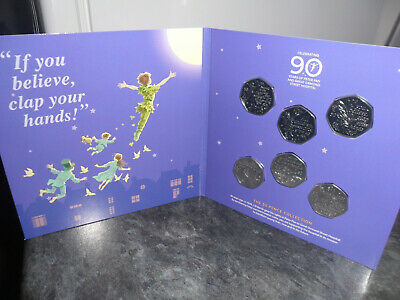 2019 Peter Pan 50p complete coin set. BUNC. 90th Anniversary Packaging