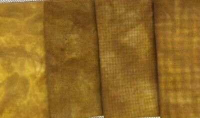 """""""Indian Moon Gold"""" dyed rug hooking wool fabric - (1) Fat Quarter 100% Wool"""