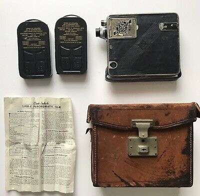 Vintage Simplex Pockette 16mm Cine Film Movie Camera + Kodak Film Cases -Working