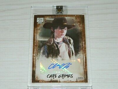 2018 Walking Dead Autograph Collection Chandler Riggs Carl Grimes Auto 7/25