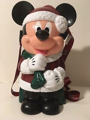 Disneyland Mickey Mouse Santa Christmas Popcorn Bucket Disney Parks