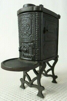 Beautiful Vintage Cast Iron Hopewell Furnace Miniature Stove