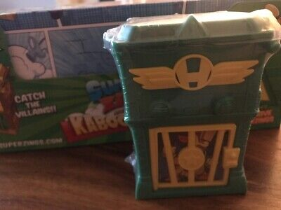 SuperZings - Kaboom Trap From Series 1. *Rare Green/ Yellow Trim* 2 Zings Inc