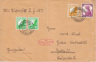 Covers Hindenburg 1936 Airmail Germany USA Flight LuftPost March War LZ 129 NA
