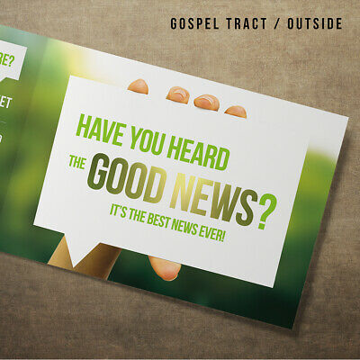 A6 Christian Gospel Tracts - 'Have you heard of the good news?' (Packs of 10)