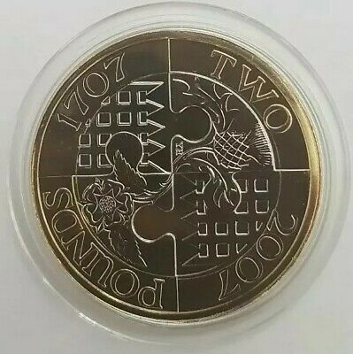 2007 The Royal Mint Act of Union Two Pounds £2 coin Brilliant Uncirculated BU UK