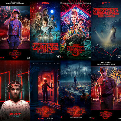 Stranger Things Posters 4 for price of 2 Season 3 Kids Bedroom Decor A5 A4 A3