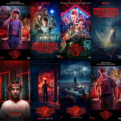 Stranger Things Season 3 Poster 80s Kids Bedroom Decor A5 A4 A3 4 For 2 Offer