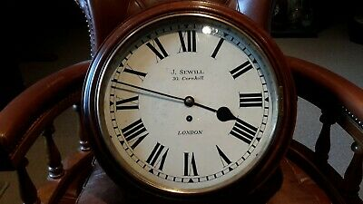 12in fusee school clock. .marked J.Sewill..London