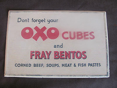 antique 1950's OXO CUBES SHOP COUNTER ADVERTISING rubber change mat