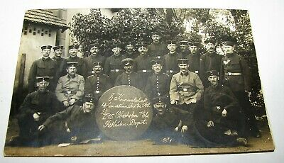 Original WWI RPPC Real Photo Postcards GERMAN TROOPS SOLDIERS RARE POSTMARK